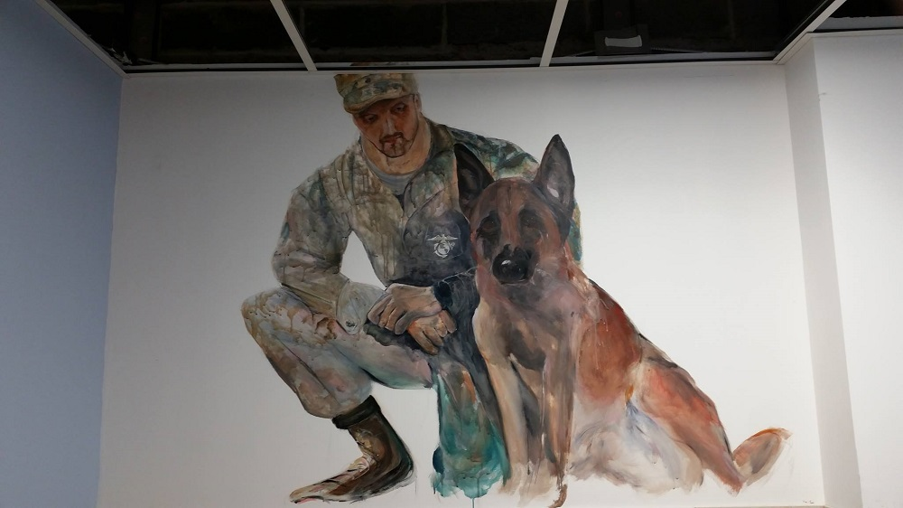 Military Room Mural for K9 Resorts in Horsham, PA